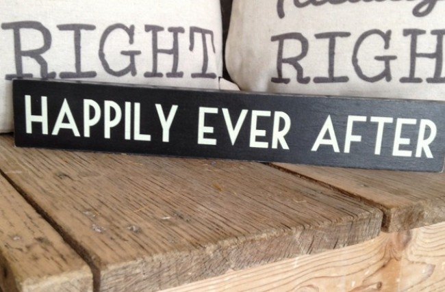 East Of India Happy Ever After Sign